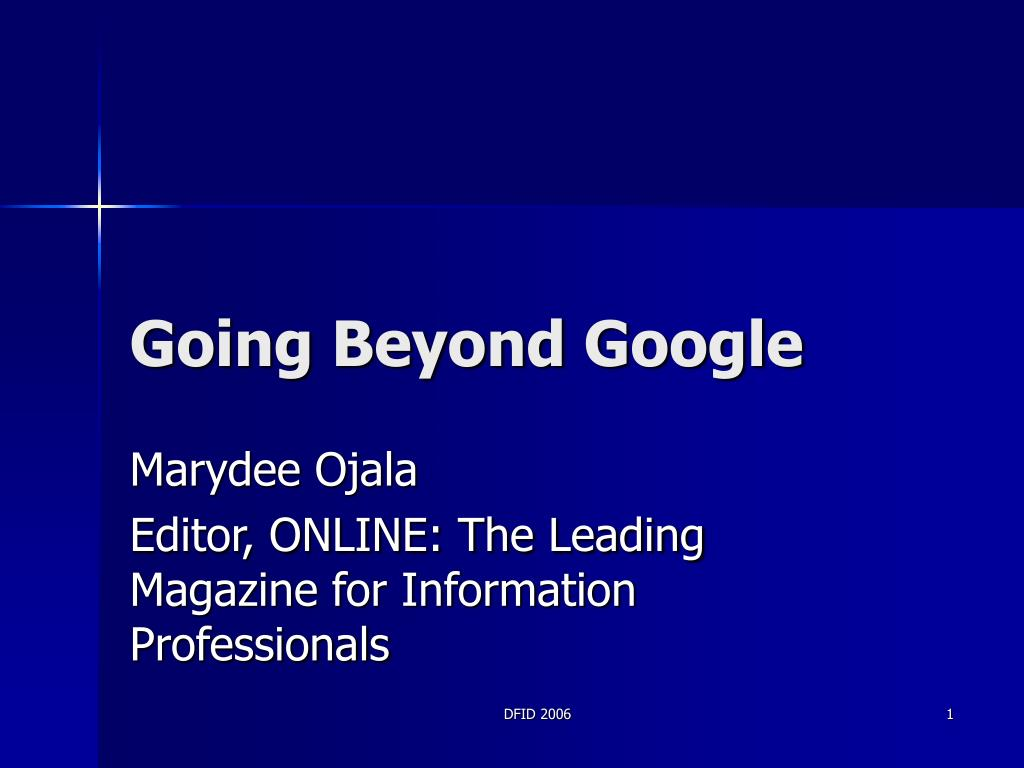 going beyond google l.