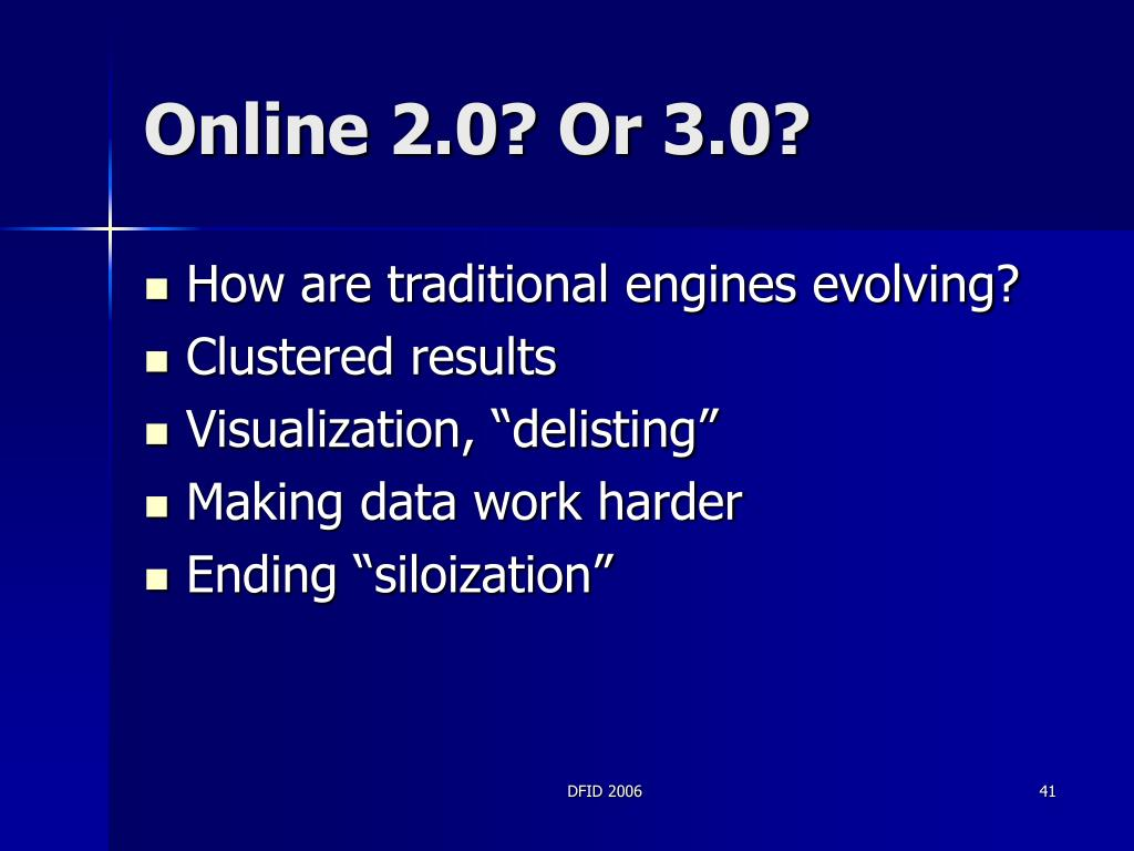 Online 2.0? Or 3.0?