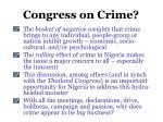 congress on crime
