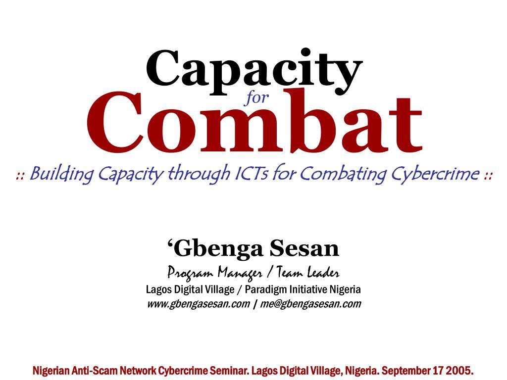 capacity for combat l.