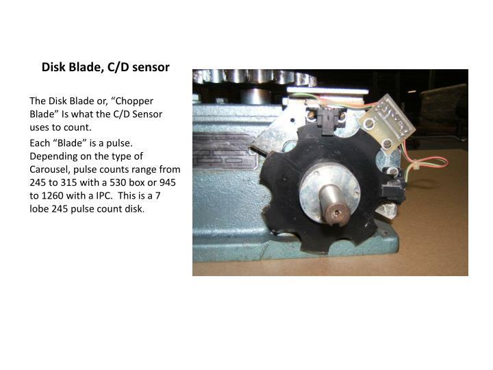 Disk Blade, C/D sensor