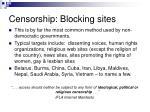 censorship blocking sites