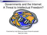 governments and the internet a threat to intellectual freedom
