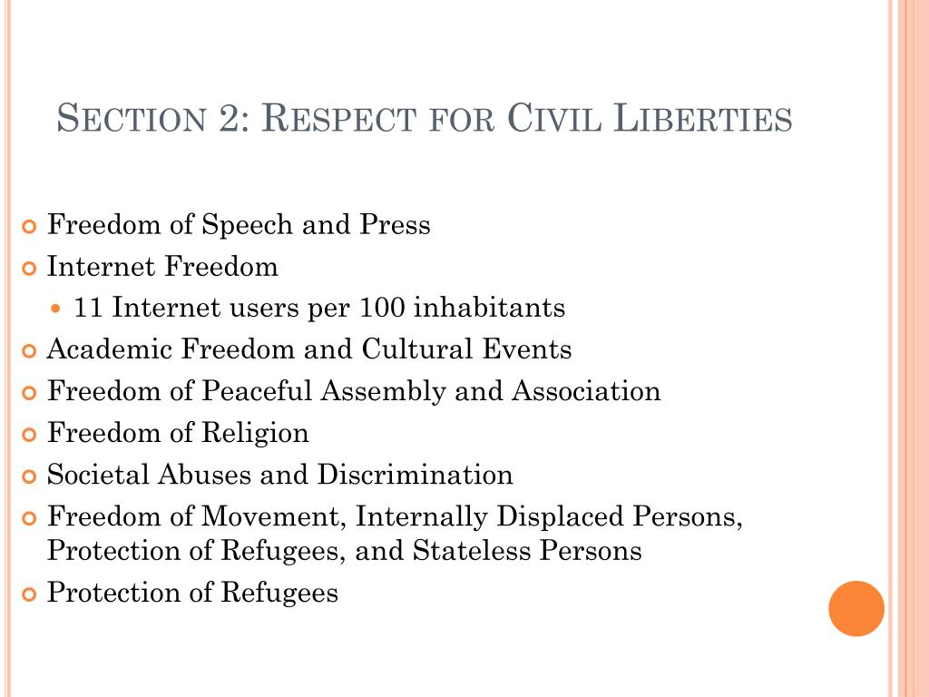 Section 2: Respect for Civil Liberties