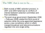 the nbc that is not to be