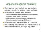 arguments against neutrality