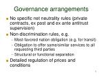 governance arrangements