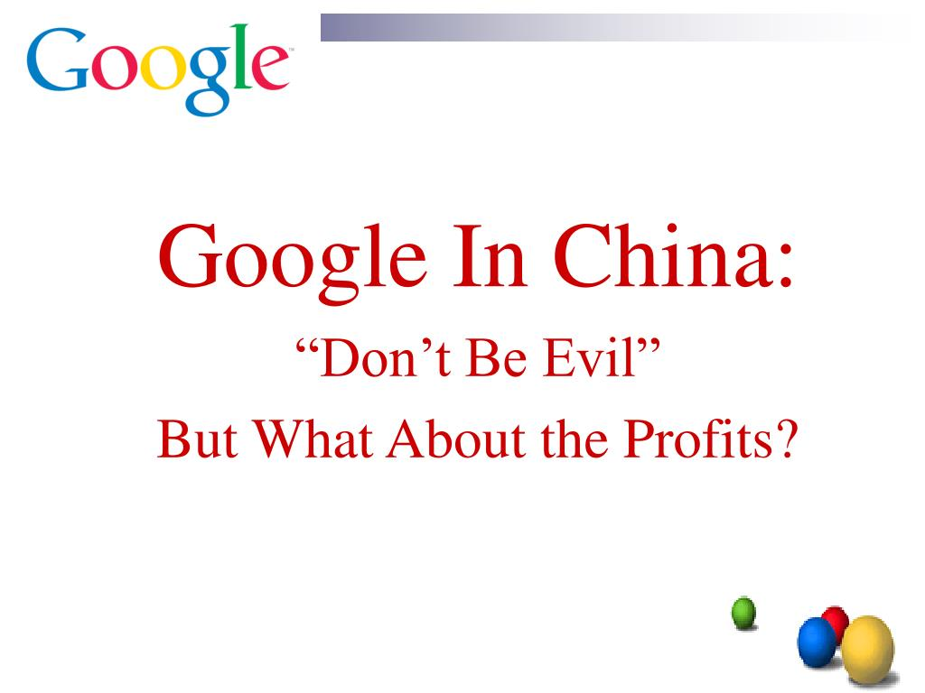 Google In China: