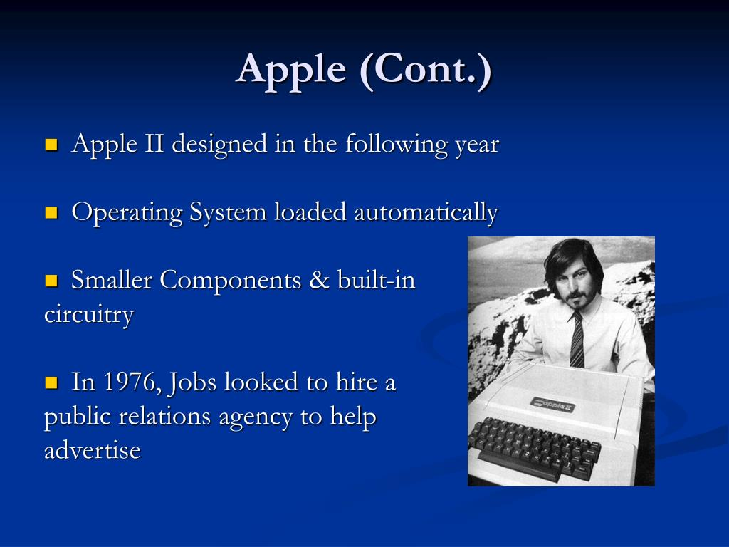 Apple (Cont.)