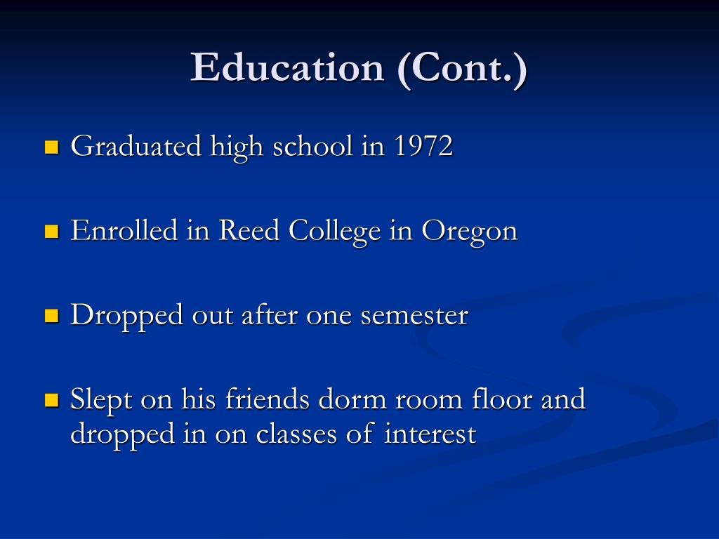 Education (Cont.)