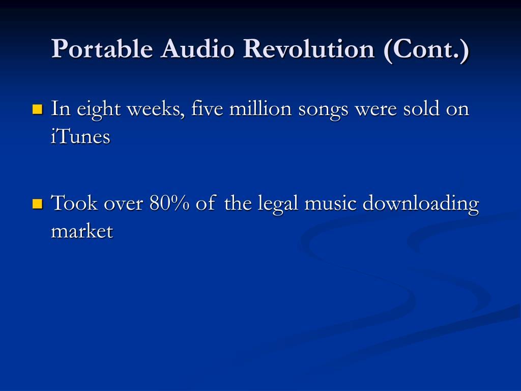 Portable Audio Revolution (Cont.)