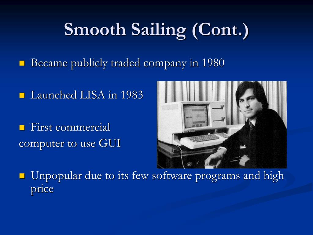 Smooth Sailing (Cont.)