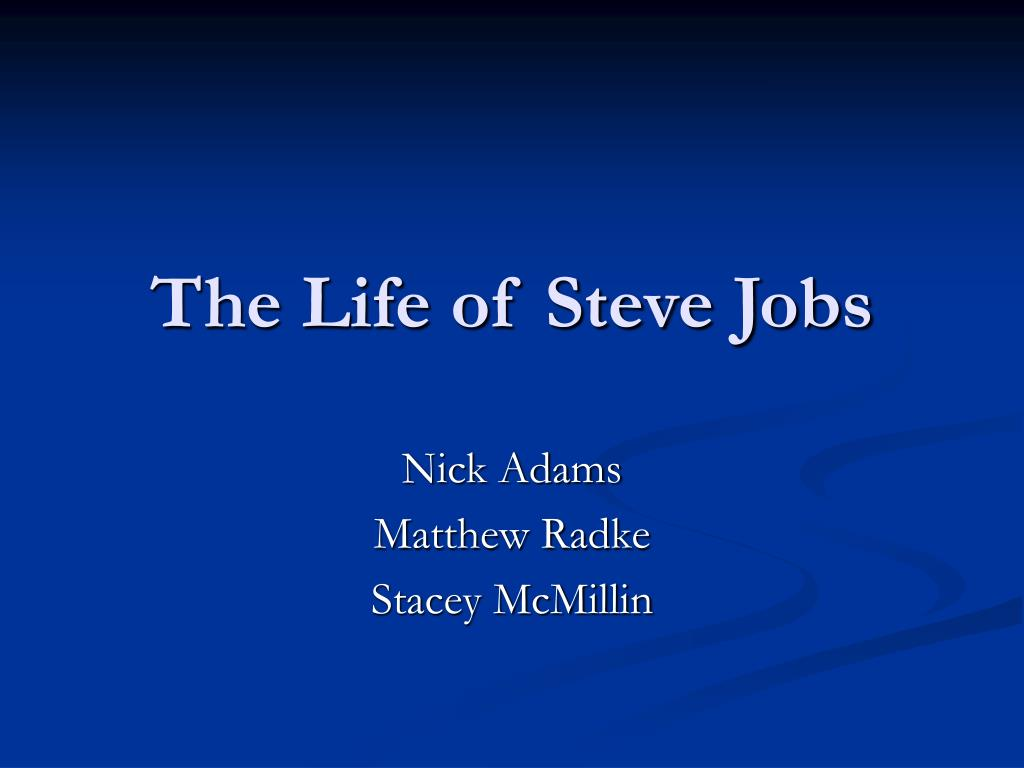 the life of steve jobs l.