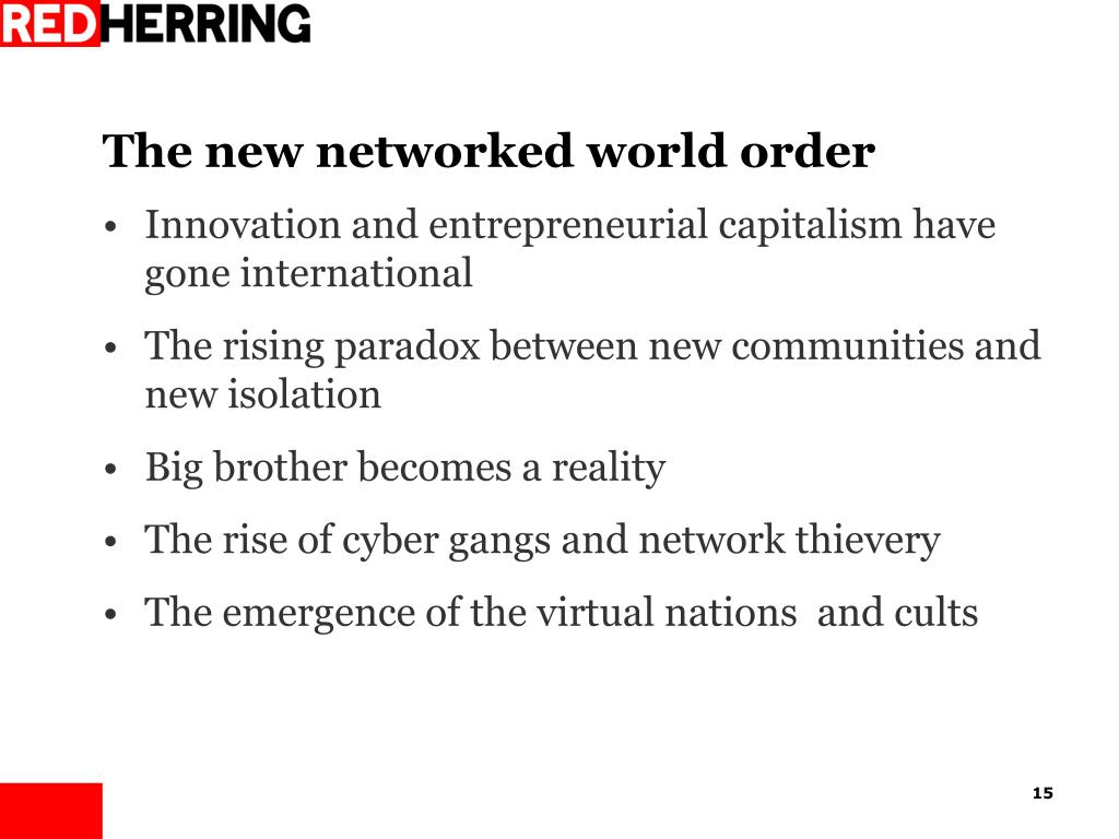 The new networked world order