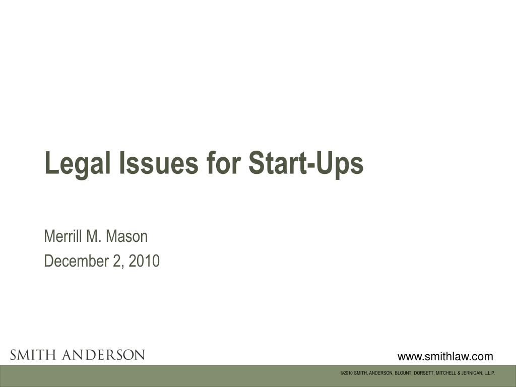 legal issues for start ups