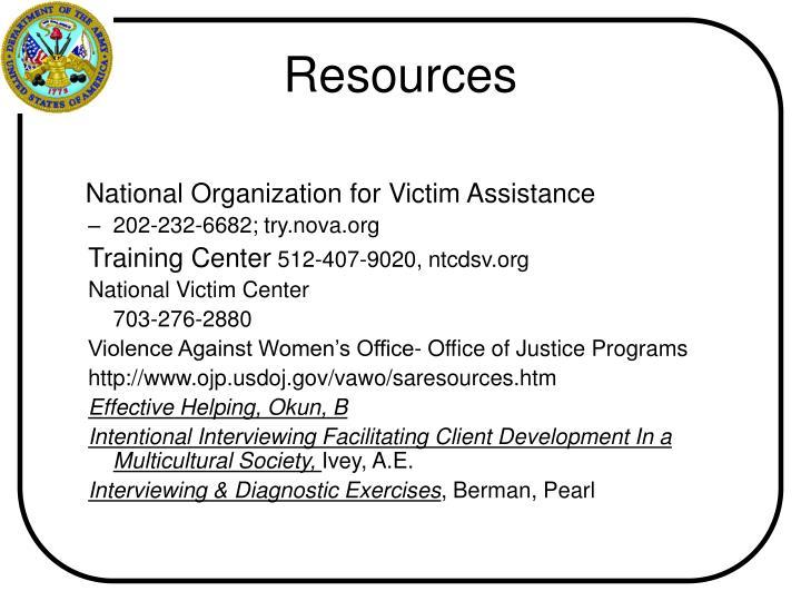 National Organization for Victim Assistance