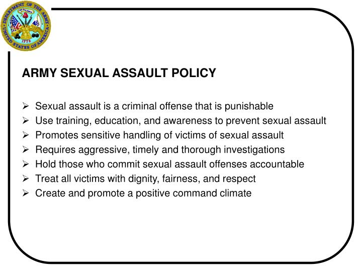 ARMY SEXUAL ASSAULT POLICY