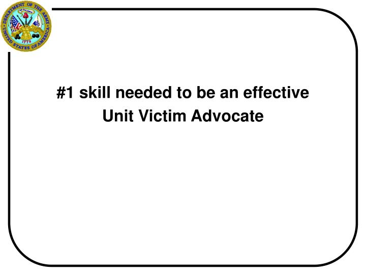 #1 skill needed to be an effective
