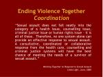 ending violence together coordination