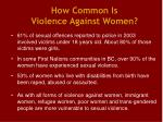how common is violence against women5