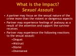 what is the impact sexual assault4
