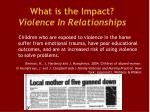 what is the impact violence in relationships1