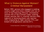 what is violence against women criminal harassment3