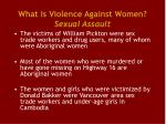 what is violence against women sexual assault4