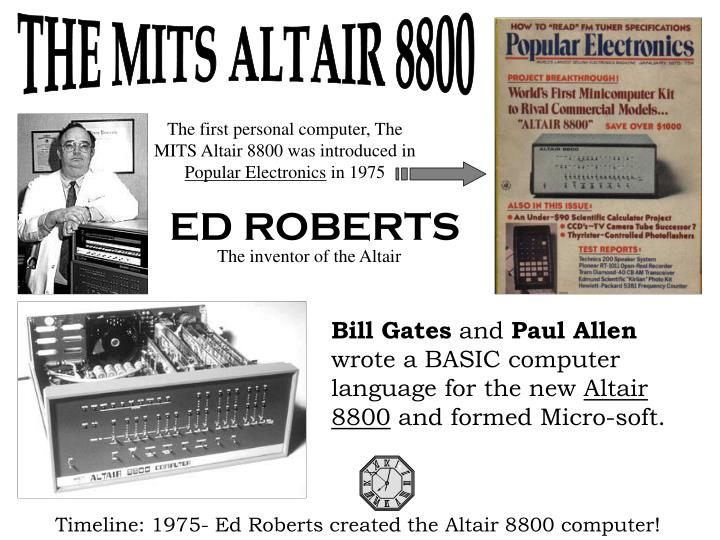 THE MITS ALTAIR 8800