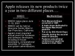 apple releases its new products twice a year in two different places