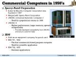 commercial computers in 1950 s