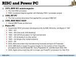 risc and power pc