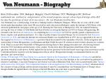 von neumann biography