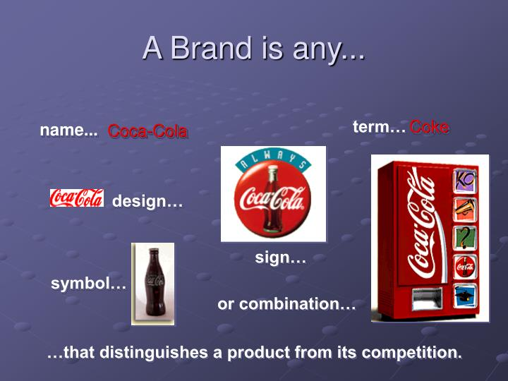 a brand is any n.