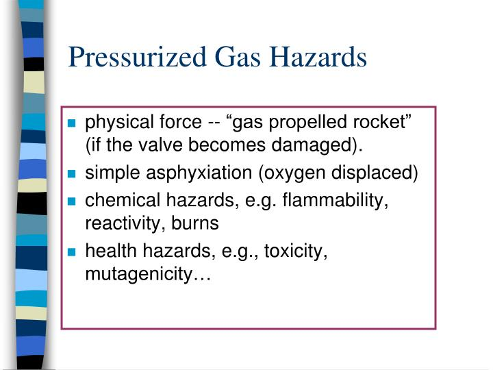 """physical force -- """"gas propelled rocket"""" (if the valve becomes damaged)."""