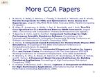 more cca papers