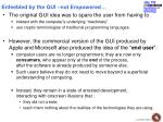 enfeebled by the gui not empowered