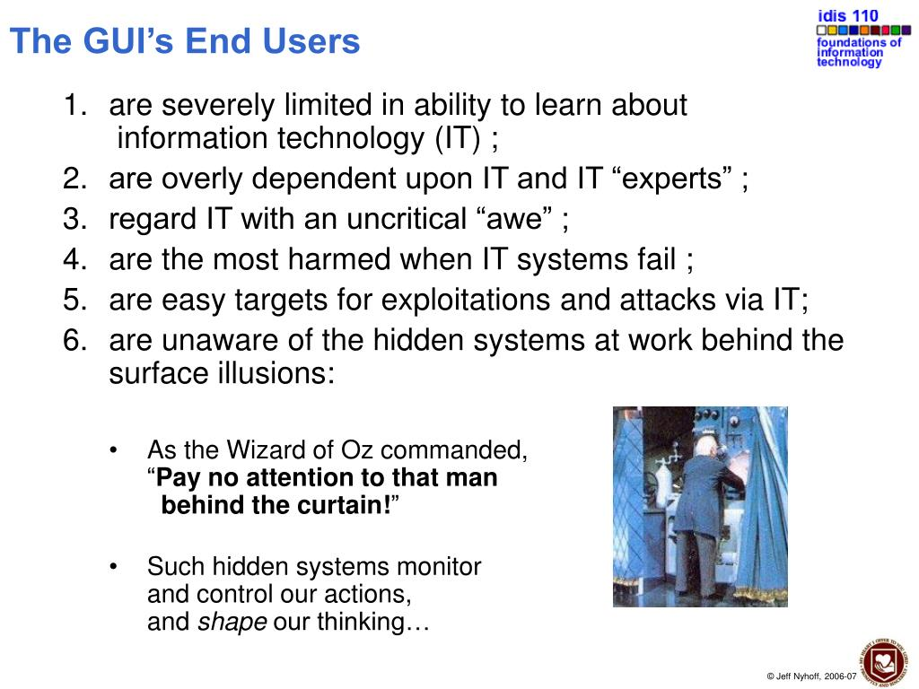 The GUI's End Users