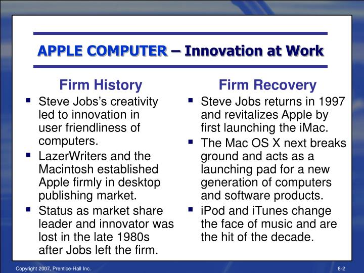 Apple computer innovation at work