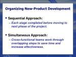 organizing new product development