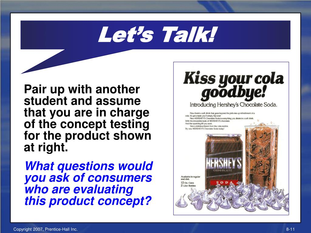 Pair up with another student and assume that you are in charge of the concept testing for the product shown at right.