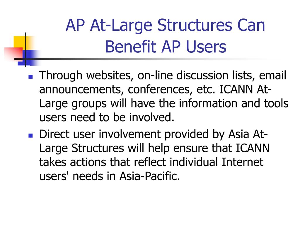 AP At-Large Structures Can Benefit AP Users
