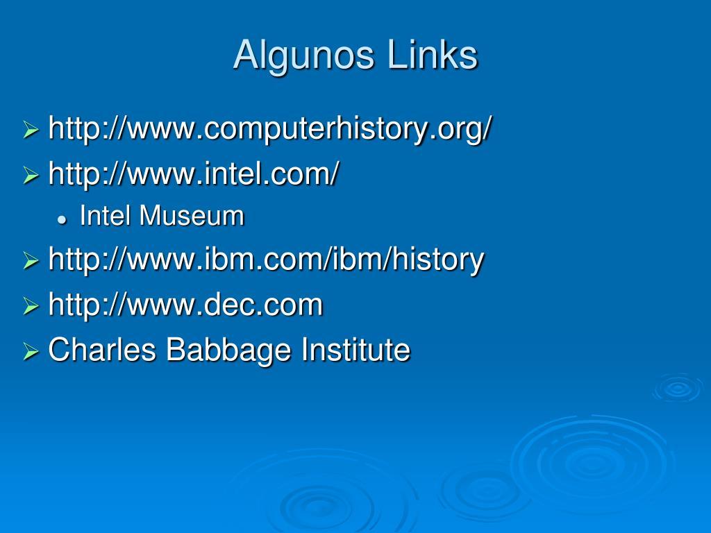 Algunos Links