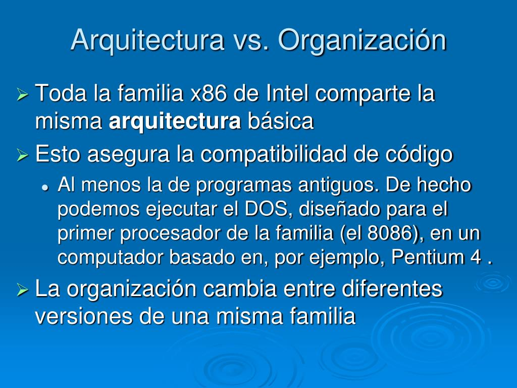 Arquitectura vs. Organización