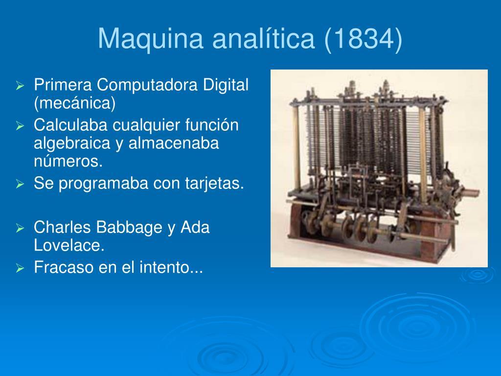 Maquina analítica (1834)