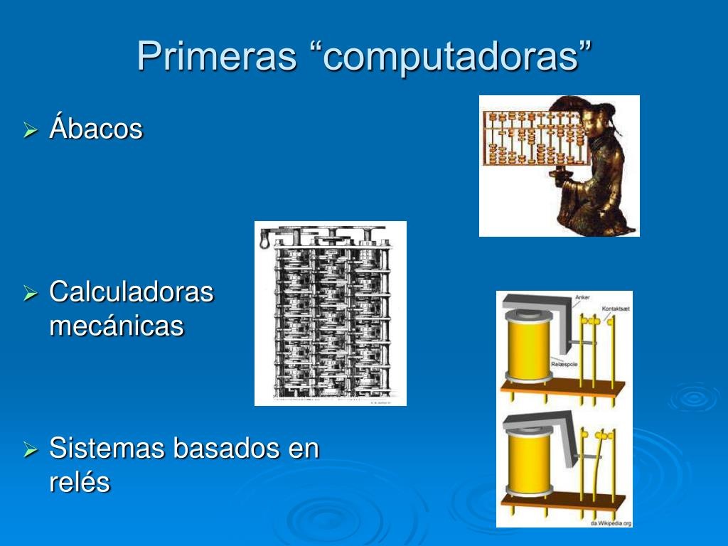 """Primeras """"computadoras"""""""