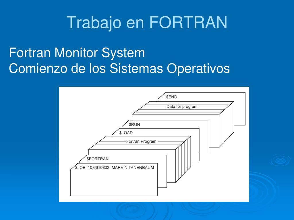 Trabajo en FORTRAN