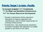 priority target 1 in asia pacific