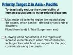 priority target 2 in asia pacific