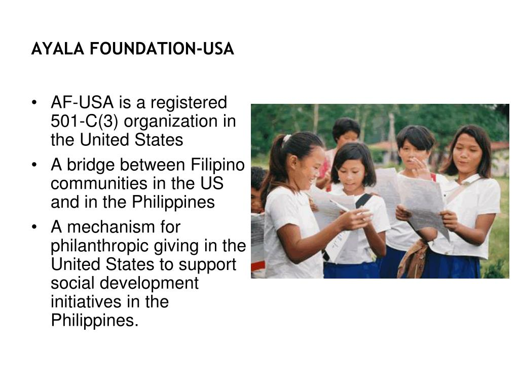 AYALA FOUNDATION-USA